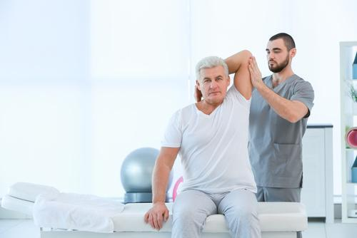 senior man physical therapy workers' compensation