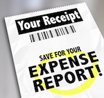 paper that says expense report