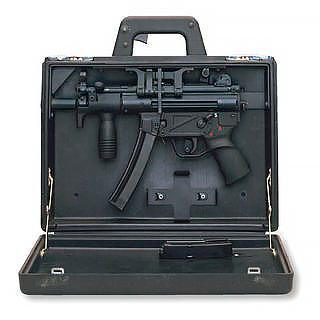 mp5k briefcase gun california camouflaged gun law