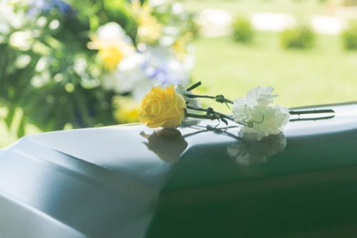 involuntary manslaughter victim in casket
