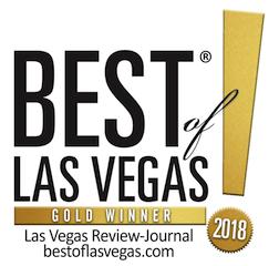 Award badge of Las Vegas Review-Journal's Best of Las Vegas.