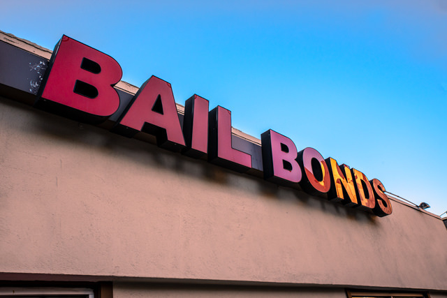 exterior of bail bond shop