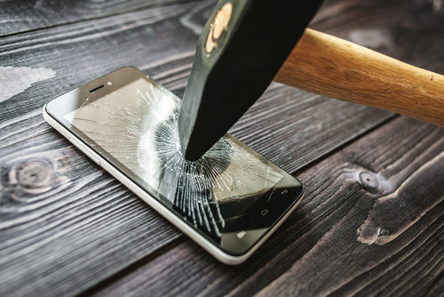 california penal code legal defense broken phone smashed