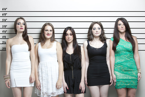 female police lineup