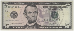 Five-dollar-bill-representing-cost-of-DUI-school
