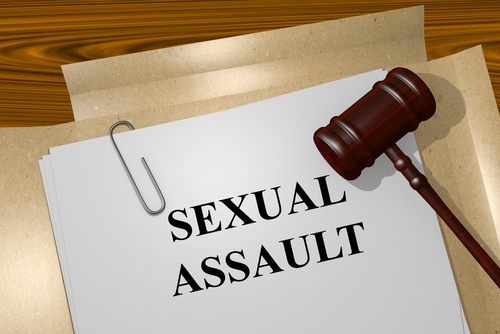 gavel over paper that says sexual assault (NRS 200.366)