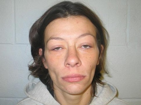 Mug-shot-of-woman-who-appears-under-the-influence-of-drugs