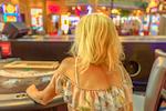 lady at gambling table