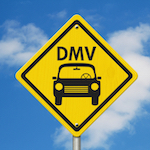 Sign for DMV, which does not need to be notified of minor collisions.