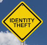 """sign that reads """"identity theft"""""""