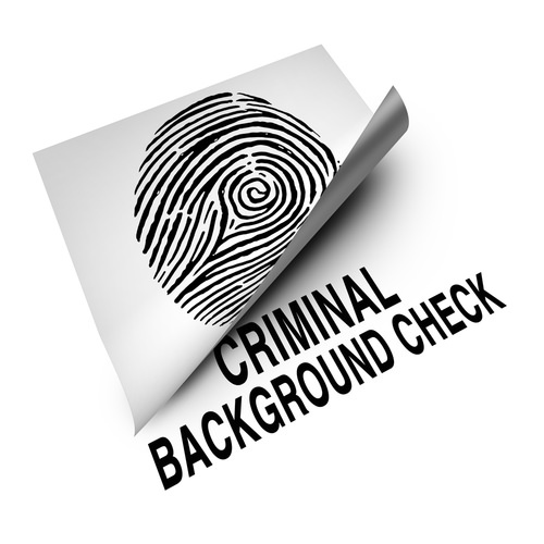 "Paper that says ""criminal background check,"" which do not show expunged delinquency cases in Colorado."