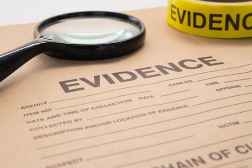 evidence traffic ticket