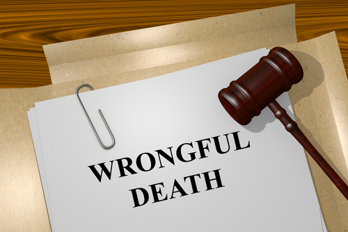 gavel on paper that says wrongful death