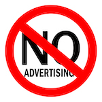 no advertising sign