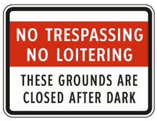 Img no trespassing loitering