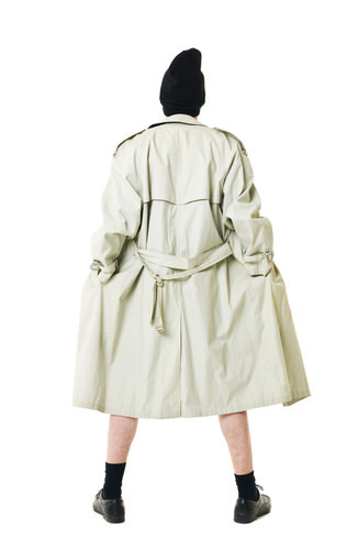 a trench coat wearing man flashing as an example of Penal Code 314 PC indecent exposure