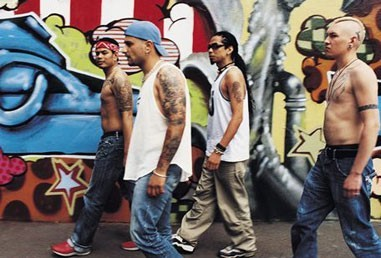 Four-tattooed-gang-members