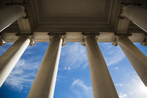 columns at courthouse