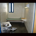 Communal toilet in a jail cell.