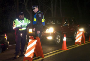 DUI-sobriety-checkpoint-at-night