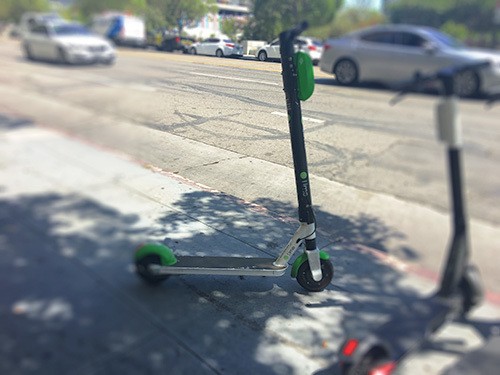 lime scooter on the street