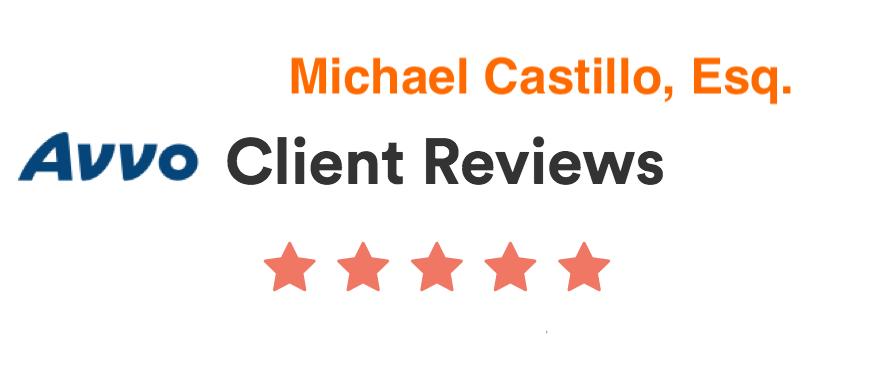 Avvo client reviews for Mike Castillo