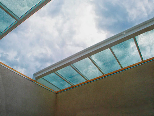 a skylight wide open where an injury may happen