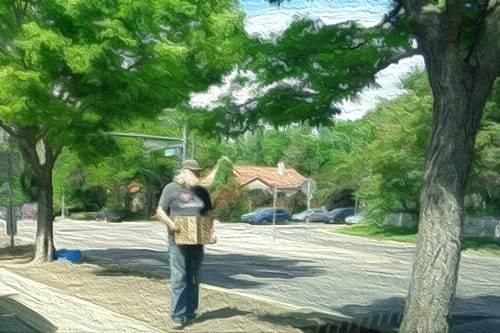 beggar on the street panhandling