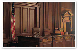 Judge's-bench-in-courtroom