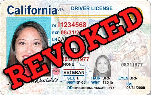 revoked california driver's license