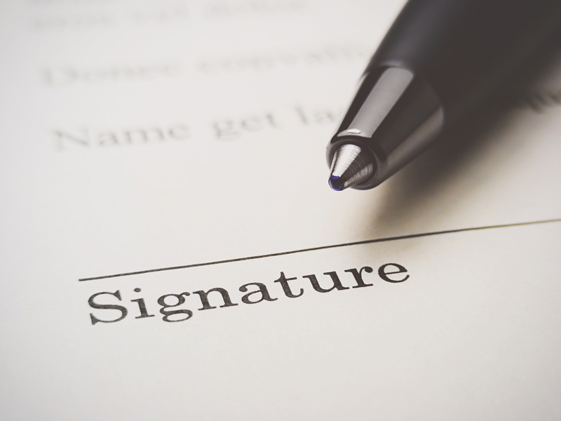 signature sign (legal name change)