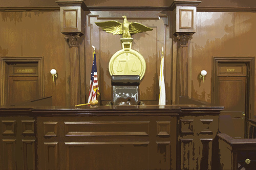 courtroom in california