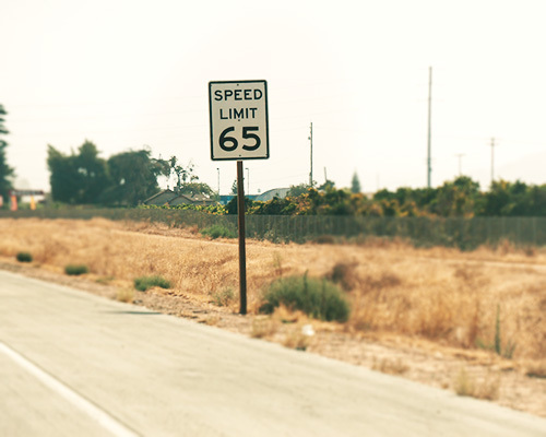 """Speed Limit 65"" sign"
