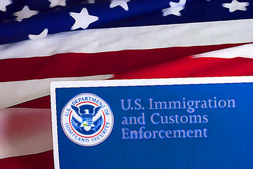 immigration and customs enforcement sign