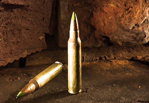 armor piercing bullets, which are illegal in California per Penal Code 30315 PC