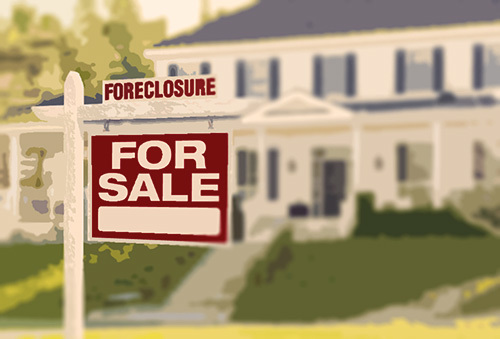 foreclosure sign - foreclosure fraud is a common form of real estate fraud