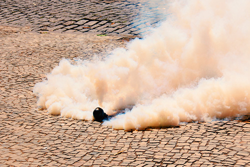 tear gas canister smoking