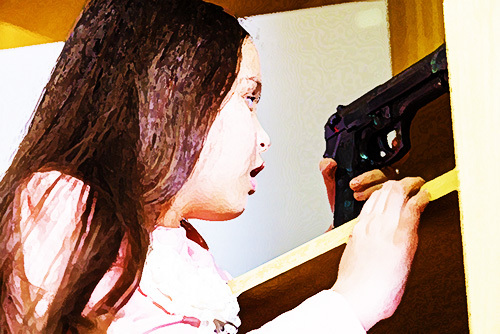 young girl finding gun at home as an example of a 25100 PC violation