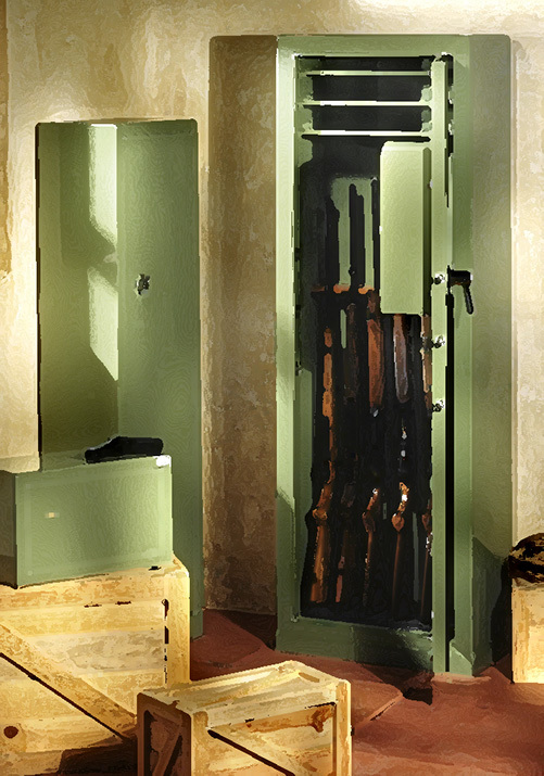 safe gun locker, a recommended means of gun storage in California