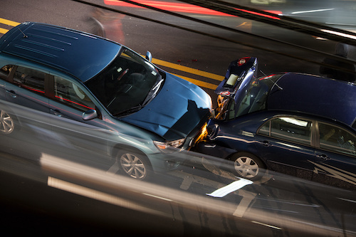 Two Cars Hit Each other Accident