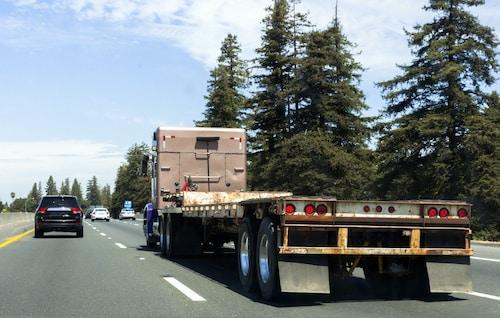 Semi Truck on Logging Road