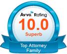 Avvo california family law attorney badge