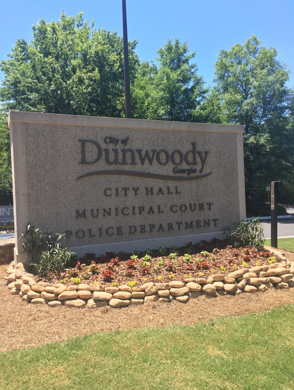 City of dunwoody sign for government building