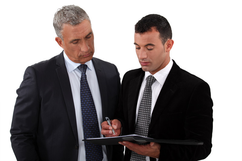 Businessmen with list canstockphoto8890421