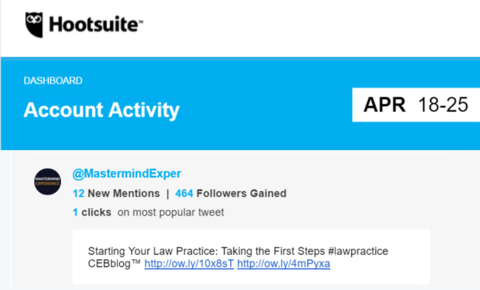 Hootsuite social media daily email