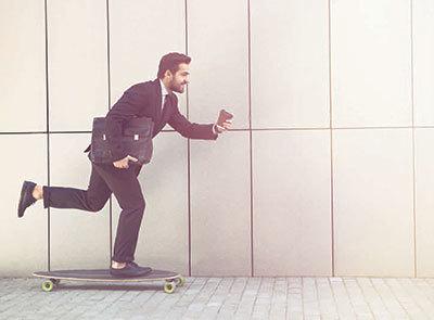 Millennial 20skateboarding