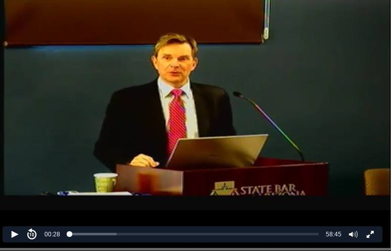 Larry Bodine Arizona State Bar Presentation