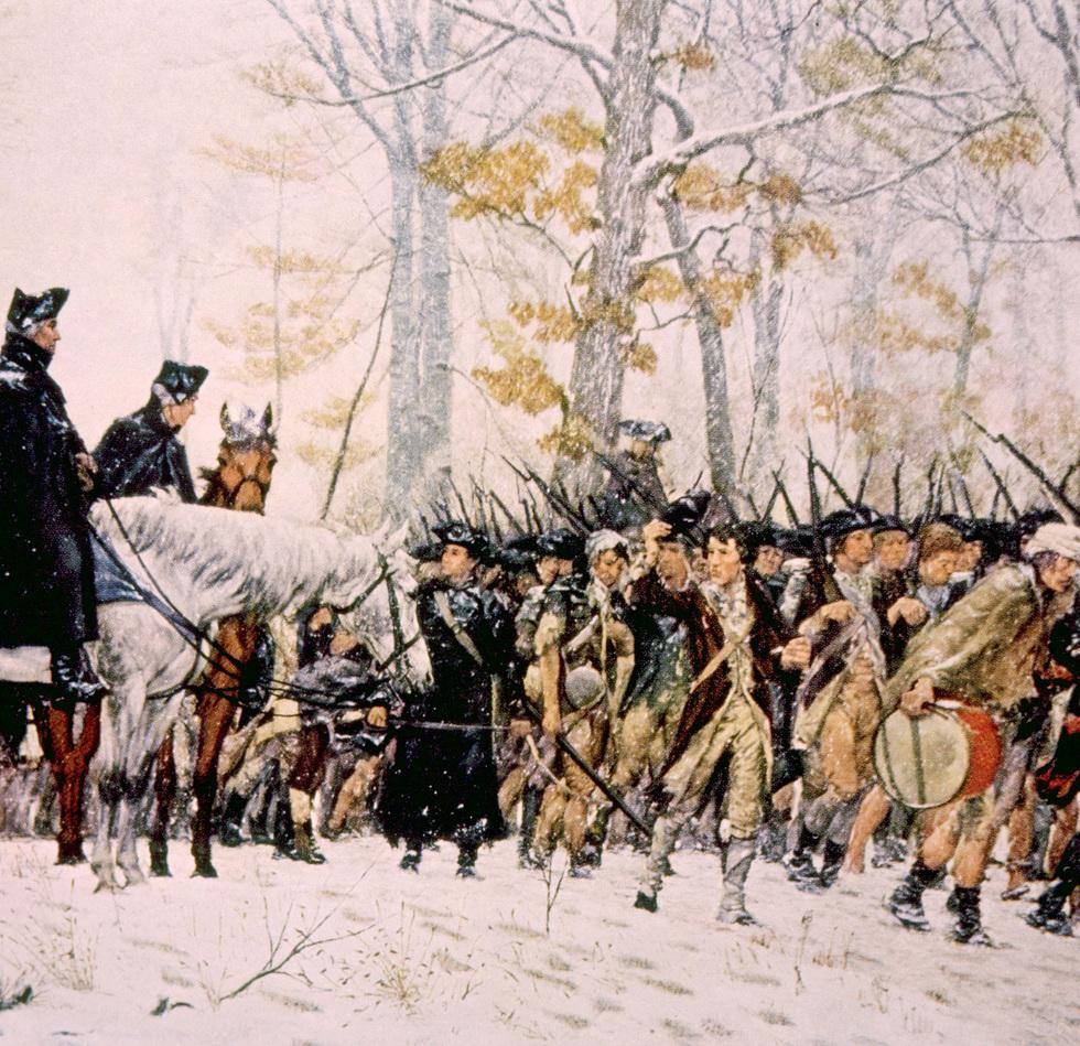 Washington Addressing Troops