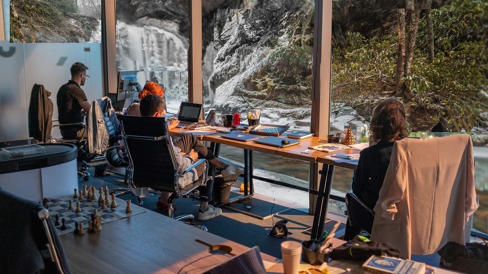 Office Mountain Stream