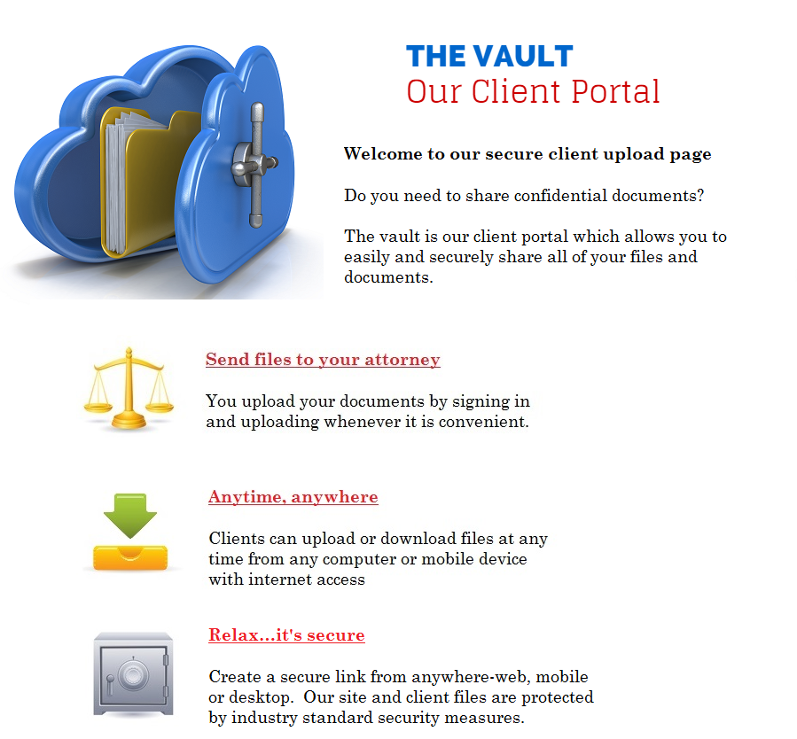 Client Document Vault | Law Office of Lori Elaine Laird PLLC